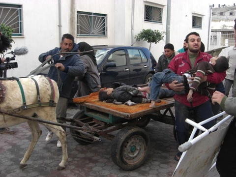 Gaza ripresa da Mohammad Rujailah dell'ISM